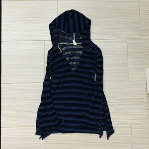Free People Striped Long Sleeve Pullover